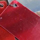 Feuille en plastique d'acrylique de miroir de couleur rouge