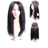 No Maraña, ningún vertimiento 100% Virgin pelo humano de Remy Peluca llena del cordón (GP-L004)