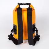 Saco impermeável ao ar livre personalizado 5L/10L/15L/20L/25L/30L do saco seco da trouxa com a cinta de ombro ajustável