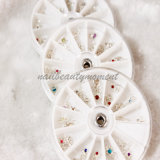 12 Arten Nail Art Dangles Gems Decoration in Wheel (M07)