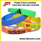 Bracelete de silicone Promoção OEM Pulseira colorida de silicone