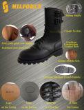 De zwarte Volledige Laarzen van het Gevecht van het Leer Militaire