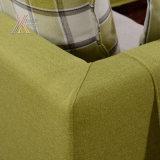 Sofà verde del tessuto con il reticolo controllato (A13)