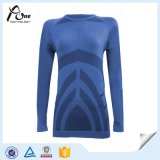 Karosserien-Form-Frauen-Hemd-lange Hülsen-Thermaloberseite