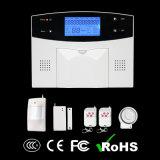 Sistema de alarme controlado alerta da segurança Home do APP G/M RFID das vozes, sistema de alarme contra-roubo da HOME com detetores de fumo