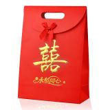 Bolso de sellado caliente modificado para requisitos particulares del regalo de boda con la manija cortada con tintas
