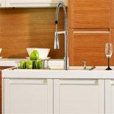 Meubles modulaires de cuisine de type de cuisine de meubles de PVC de porte BRITANNIQUE de dispositif trembleur