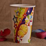 Taza de papel fría para el jugo