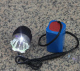 Lumière rechargeable imperméable à l'eau de bicyclette de 1800lumens DEL