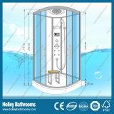 Popular templado claro para puertas de vidrio cuarto de aseo con ducha bandeja ABS (SR213C)
