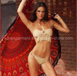 Bikini estremo Hand Knitted guarnito Halter