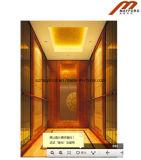기계 Roomless를 가진 로즈 금 스테인리스 전송자 엘리베이터