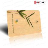 Carte de visite professionnelle sèche en bois ou en bambou d'IDENTIFICATION RF de Hf/UHF de visite