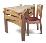 Peinture respectueuse de l'environnement de meubles en bois plein de fabrication d'usine