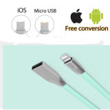Commercio all'ingrosso 2 in 1 micro cavo Braided del USB OTG per il iPhone/ridurre in pani di Samsung/Huawei/PC