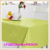 Mantel/Oilcloth impresos PVC con el forro no tejido