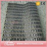 Le vêtement chausse le collant en cristal de maille de feuille de Rhinestone de Strass de difficulté chaude adhésive des accessoires 24*40cm