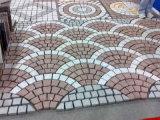 赤い斑岩の石のペーバー、玉石の石、CubestoneのKerbstone、平板、タイル