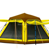 Spinnender Typ Zelte, 3-4 Personen-kampierende Zelte