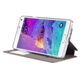 高品質のSamsung Note4のためのスマートな携帯電話フリップケース