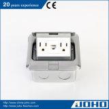 Socket retractable móvil de aluminio en 15A nosotros socket RJ45