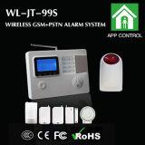 GSMおよびPSTN Systemとの無線Home Alarm Panel