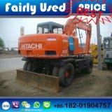 Máquina escavadora usada máquina escavadora da roda de Japão Hitachi Hitachi Ex100wd-3 das boas condições (escavador)