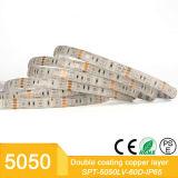 Wasserdichtes 12V 5m Mehrfarbenstreifen-Licht 300 LED-RGB 5050 Installationssatz mit guter Qualität