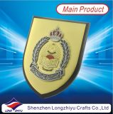 Plaque en bois d'écran protecteur de récompenses avec de plaque métallique personnalisé
