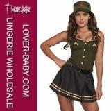 Mujeres 3 pedazo atractivo Ejército de la muchacha del traje L15325