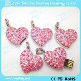 Unidad flash USB de la forma del corazón de la joyería (ZYF1115)