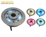 éclairages LED sous-marins d'acier inoxydable de 24V IP68 RVB pour des fontaines