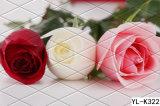 Grandes peintures murales romantiques de mur de Rose 3D florales pour le décor à la maison