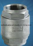 A válvula de verificação vertical da carcaça 2PC-Spring da precisão rosqueou com filtro