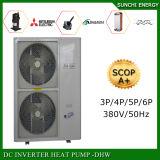 Calefator de água Ashp da bomba de calor da fonte de ar da tecnologia do quarto 9kw/12kw/19kw/35kw Evi do aquecimento do tempo do inverno -25c de Serbia