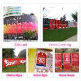 Bandera al aire libre de encargo de la cartelera del vinilo del PVC del colgante de pared