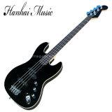 Musique de Hanhai/guitare basse électrique de noir avec 4 chaînes de caractères (basse BK de jazz)