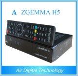 De hoge Dubbele Kern Linux Enigma2 Hevc/H. 265 van Zgemma H5 Bcm73625 van de Ontvanger van cpu HDTV Satelliet Hybride Tuners dvb-S2+T2/C