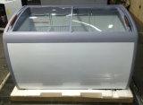 Congelador da caixa do gelado de porta de vidro de deslizamento do supermercado de R134A