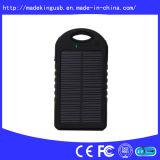 Banco 5000mAh da potência solar com os painéis grandes de Sun