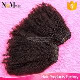 Cabelo 100% natural brasileiro de Coily Remy da onda natural da extensão do cabelo humano do Virgin