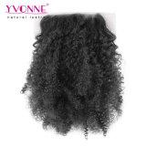 Chiusura brasiliana del merletto dei capelli crespi di Afro