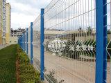 Powder Coated puerta de la cerca de malla de alambre para Industrial