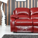 Esquina reclinable de cuero del sofá (779 #)
