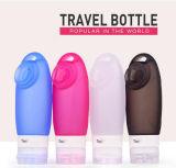 실리콘 FDA는 소형 작은 휴대용 빈 연약한 짤 수 있는 다시 채울 수 있는 누출 증거 항공 실리콘 접을 수 있는 관 액체 여행 병을 승인했다