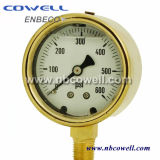 Ss316 Silicone Oil Filled Hydraulic Oil Pressure Gauge