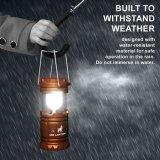 3AAA折りたたみ防水テントライトLEDキャンプのランタンの懐中電燈