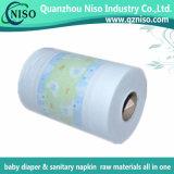 아기 또는 성인 기저귀 원료를 위한 짠것이 아닌 박판으로 만들어진 필름을%s 열기