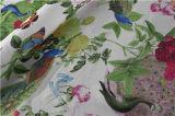 Cópia de Digitas com teste padrão de flor na tela de seda