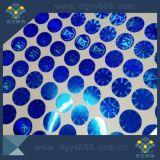 Collant bleu de laser de couleur de forme faite sur commande